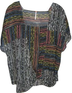 Free People Top Multicolored