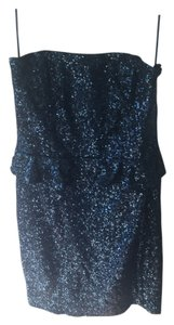 Zara Sequin Peplum Strapless Mini Dress