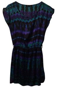 Forever 21 short dress Black, green, purple, and blue on Tradesy