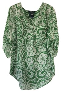Maeve (through Anthropologie) Top Green and white