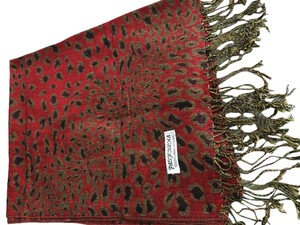 Red Animal Leopard Scarf