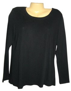 Gap Long Sleeve Pullover Cotton T Shirt Black