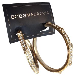 BCBGMAXAZRIA Gold color hoop earrings