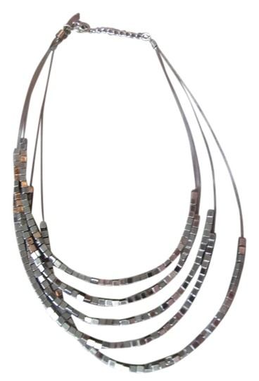 Express Silver box necklace, multi length