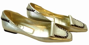 Roger Vivier gold / brown Flats