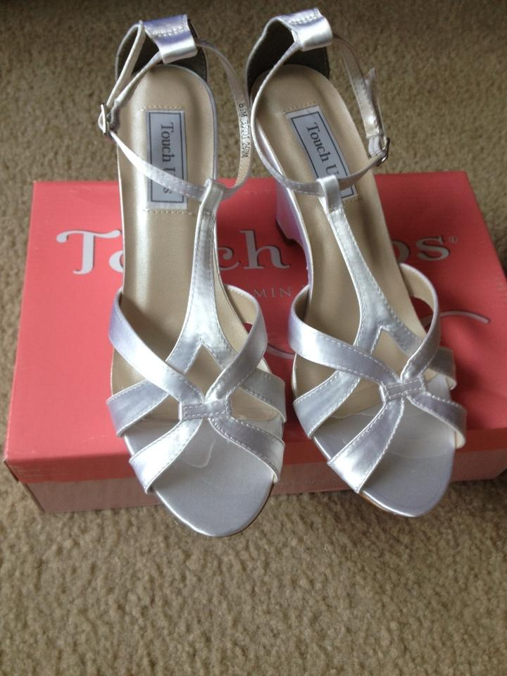 White Comfortable T Bridal Dyeable Ups Touch Wedges strap pO5qvp