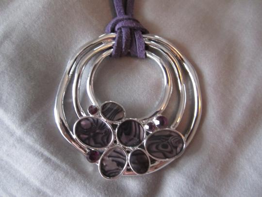 Other purple suede necklace