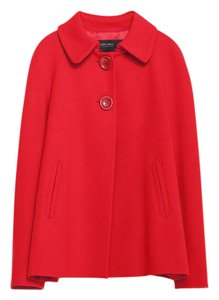 Zara Blazer Back Pleat Red Jacket