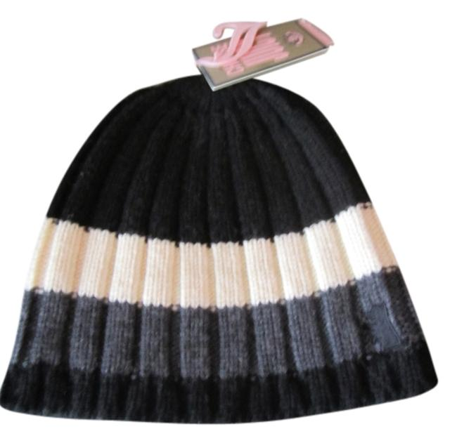 Item - Black White and Gray Striped Hat