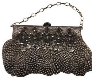 Badgley Mischka Silver, Black, White Clutch