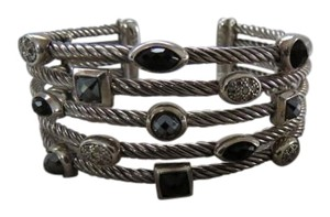 David Yurman David Yurman Confettie Collection Black Onyx, Hematine and Pave' Diamond Cuff Bracelet