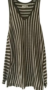 Madewell Linen Cotton Striped Racer-back Top Olive & White