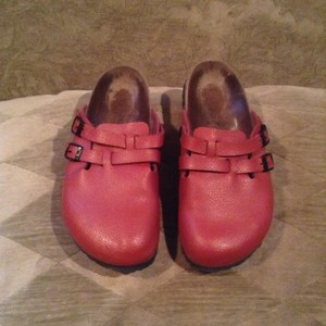 Birki's by Birkenstock Red Mules