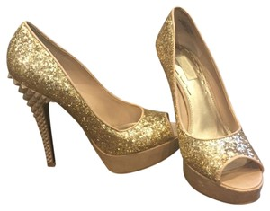 Rachel Roy Gold Platforms