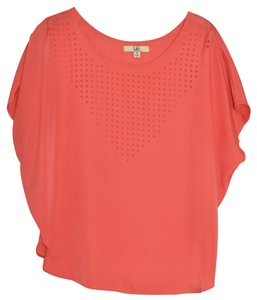 Ya Los Angeles Cut-out Lazer Cut T Shirt Coral