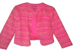 Lilly Pulitzer Metallic Scalloped Neon Pink Jacket