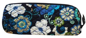 Vera Bradley Mod Floral Blue Bag Clutch Pouch Cosmetic Slipper Travel Retired