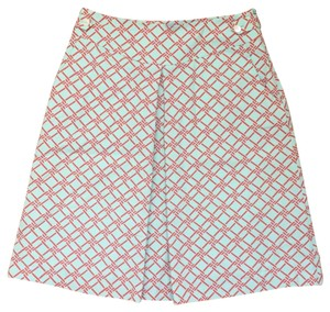 J.McLaughlin Skirt Orange/red & sea foam green/blue