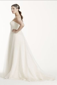 David's Bridal Style 9wg3586 Strapless A-line Beaded Lace Tulle Wedding Dress Wedding Dress