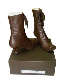Chie Mihara Leather Bronzey Brown Boots