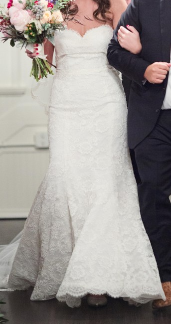 Item - Ivory Bliss Strapless Lace Trumpet Gown (Bl1522) Wedding Dress Size 8 (M)