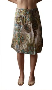 Sunny Leigh Indian India Indian Print Skirt white,