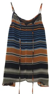 MM Couture Hi-lo Stripes Top Blue, Orange, Grey, Black & White