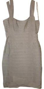 Herv Leger short dress Light Gray on Tradesy