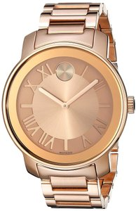 Movado Rose Gold Stainless Steel Designer UNISEX Casual Dress Watch
