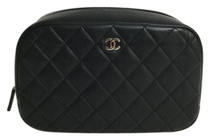 Chanel CHANEL QUILTED COSMETIC POUCH.