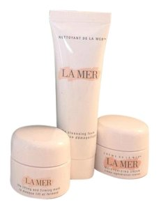 La Mer Deluxe Travel Set Moisturizing Cream, Lifting+Firming Mask, Cleansing Foam