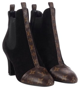 Louis Vuitton REVIVAL Ankle Boots Louis Vuitton Black Suede / Monogram Boots
