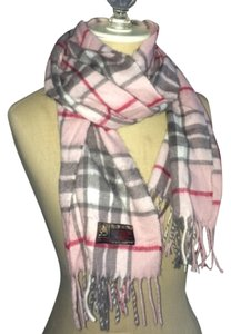 Italian-Made Pink Plaid Scarf