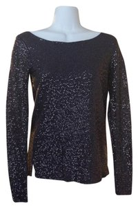 J.Crew Sequin Sparkle Top Pewter Blue