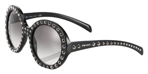 Prada BRAND NEW PRADA ABSOLUTE ORNATE ROUND OVERSIZED STUDDED SUNGLASSES BRAND NEW WITH TAGS PRADA CASE CLOTH PAPERWORK