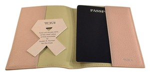 Tumi Susan G. Komen for the Cure Tumi Leather Pink Passport Cover New