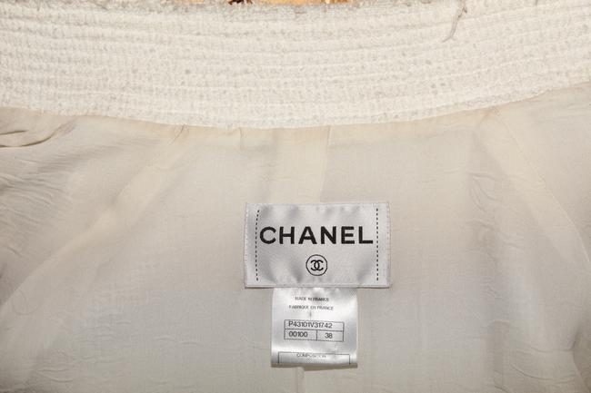 Chanel Tweed White Jacket