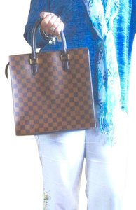 Louis Vuitton Damier Damier Canvas Tote in Brown