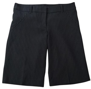 XOXO Dress Shorts Black with white ultra thin strips