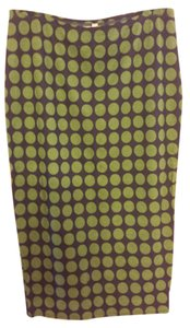 Bailey 44 Polka Dot Skirt Navy/ Green