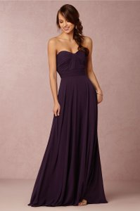 BHLDN Plum Crinkled Chiffon Quinn By Watters Formal Bridesmaid/Mob Dress Size 4 (S)