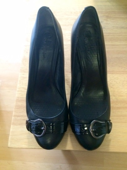 Cole Haan Leather Patent Leather Black Pumps