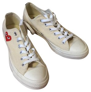 Converse White canvas Athletic