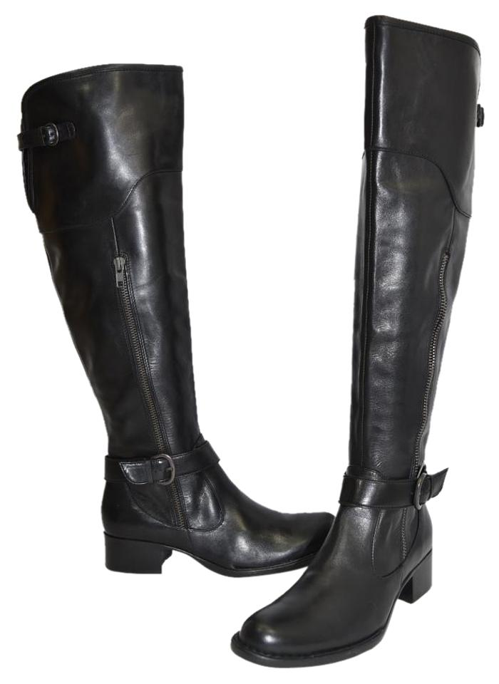 Vince The Camuto Black Baldwin 2 Leather Tall Over The Vince Knee Leather 42 Boots/Booties 995ab1