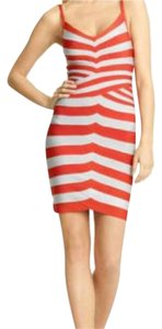 Herv Leger short dress Gray and Orange on Tradesy