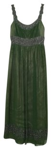 Adrianna Papell Elegant Ball Gown Beaded Long Sleeveless Dress