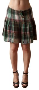 Necessary Objects Vintage 1990s 90s Grunge Skater Punk Mini Kilt Up Down Plaid Woven 1980s 80s Kilt Hipster Rocker Mini Skirt