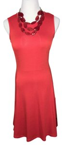 Donna Ricco short dress orange red Comfortable Work Short on Tradesy