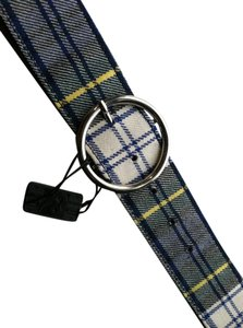 Dolce & Gabbana D&G Dolce and Gabbana Plaid Blue White Belt NWt Vintage Accessory NOS