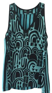 Nanette Lepore Top Black and Blue